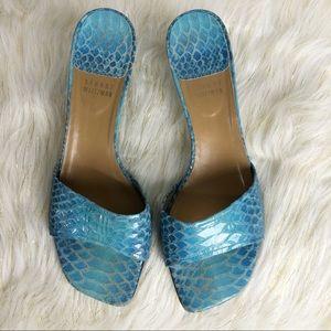 Stuart Weitzman Shoes Snakeskin Print Blue